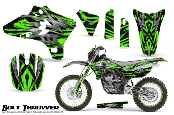 Yamaha YZ250 YZ450 03 05 WR250 WR450 05 06 CreatorX Graphics Kit Bolt Thrower Green NP Rims 570x376 - Yamaha YZ250F/YZ450F 4 Stroke 2003-2005 Graphics