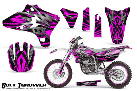 Yamaha YZ250 YZ450 03 05 WR250 WR450 05 06 CreatorX Graphics Kit Bolt Thrower Pink NP Rims 570x376 - Yamaha YZ250F/YZ450F 4 Stroke 2003-2005 Graphics