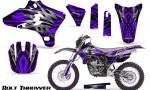 Yamaha YZ250 YZ450 03 05 WR250 WR450 05 06 CreatorX Graphics Kit Bolt Thrower Purple NP Rims 150x90 - Yamaha YZ250F/YZ450F 4 Stroke 2003-2005 Graphics