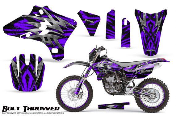 Yamaha YZ250 YZ450 03 05 WR250 WR450 05 06 CreatorX Graphics Kit Bolt Thrower Purple NP Rims 570x376 - Yamaha YZ250F/YZ450F 4 Stroke 2003-2005 Graphics