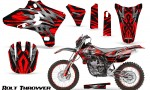 Yamaha YZ250 YZ450 03 05 WR250 WR450 05 06 CreatorX Graphics Kit Bolt Thrower Red NP Rims 150x90 - Yamaha YZ250F/YZ450F 4 Stroke 2003-2005 Graphics