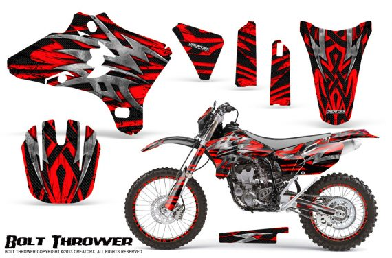 Yamaha YZ250 YZ450 03 05 WR250 WR450 05 06 CreatorX Graphics Kit Bolt Thrower Red NP Rims 570x376 - Yamaha YZ250F/YZ450F 4 Stroke 2003-2005 Graphics