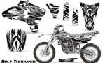 Yamaha YZ250 YZ450 03 05 WR250 WR450 05 06 CreatorX Graphics Kit Bolt Thrower White NP Rims 150x90 - Yamaha YZ250F/YZ450F 4 Stroke 2003-2005 Graphics