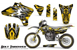 Yamaha-YZ250-YZ450-03-05-WR250-WR450-05-06-CreatorX-Graphics-Kit-Bolt-Thrower-Yellow-NP-Rims