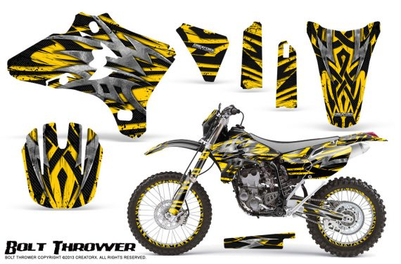 Yamaha YZ250 YZ450 03 05 WR250 WR450 05 06 CreatorX Graphics Kit Bolt Thrower Yellow NP Rims 570x376 - Yamaha YZ250F/YZ450F 4 Stroke 2003-2005 Graphics