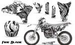 Yamaha YZ250 YZ450 03 05 WR250 WR450 05 06 CreatorX Graphics Kit Fire Blade Black White WB NP Rims 150x90 - Yamaha YZ250F/YZ450F 4 Stroke 2003-2005 Graphics