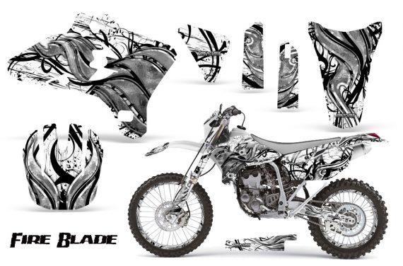 Yamaha YZ250 YZ450 03 05 WR250 WR450 05 06 CreatorX Graphics Kit Fire Blade Black White WB NP Rims 570x376 - Yamaha YZ250F/YZ450F 4 Stroke 2003-2005 Graphics