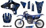 Yamaha YZ250 YZ450 03 05 WR250 WR450 05 06 CreatorX Graphics Kit SpiderX Blue BLB NP Rims 150x90 - Yamaha YZ250F/YZ450F 4 Stroke 2003-2005 Graphics