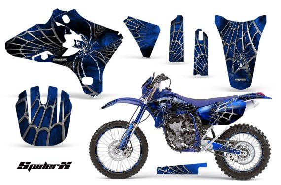 Yamaha YZ250 YZ450 03 05 WR250 WR450 05 06 CreatorX Graphics Kit SpiderX Blue BLB NP Rims 570x376 - Yamaha YZ250F/YZ450F 4 Stroke 2003-2005 Graphics