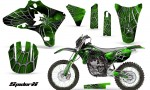 Yamaha YZ250 YZ450 03 05 WR250 WR450 05 06 CreatorX Graphics Kit SpiderX Green BB NP Rims 150x90 - Yamaha YZ250F/YZ450F 4 Stroke 2003-2005 Graphics