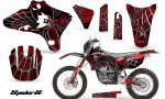 Yamaha YZ250 YZ450 03 05 WR250 WR450 05 06 CreatorX Graphics Kit SpiderX Red BB NP Rims 150x90 - Yamaha YZ250F/YZ450F 4 Stroke 2003-2005 Graphics