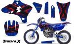 Yamaha YZ250 YZ450 03 05 WR250 WR450 05 06 CreatorX Graphics Kit TribalX Red Blue NP Rims 150x90 - Yamaha YZ250F/YZ450F 4 Stroke 2003-2005 Graphics