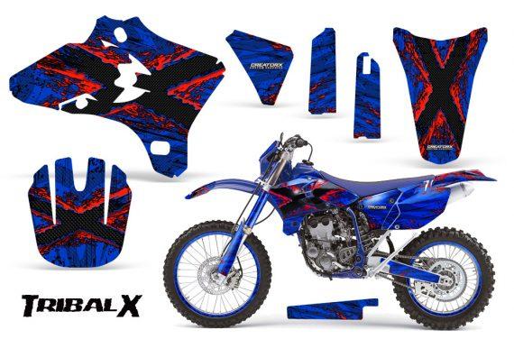 Yamaha YZ250 YZ450 03 05 WR250 WR450 05 06 CreatorX Graphics Kit TribalX Red Blue NP Rims 570x376 - Yamaha YZ250F/YZ450F 4 Stroke 2003-2005 Graphics