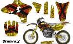 Yamaha YZ250 YZ450 03 05 WR250 WR450 05 06 CreatorX Graphics Kit TribalX Red Yellow NP Rims 150x90 - Yamaha YZ250F/YZ450F 4 Stroke 2003-2005 Graphics