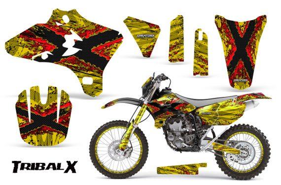 Yamaha YZ250 YZ450 03 05 WR250 WR450 05 06 CreatorX Graphics Kit TribalX Red Yellow NP Rims 570x376 - Yamaha YZ250F/YZ450F 4 Stroke 2003-2005 Graphics
