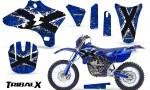 Yamaha YZ250 YZ450 03 05 WR250 WR450 05 06 CreatorX Graphics Kit TribalX White Blue NP Rims 150x90 - Yamaha YZ250F/YZ450F 4 Stroke 2003-2005 Graphics