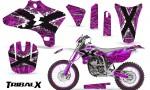 Yamaha YZ250 YZ450 03 05 WR250 WR450 05 06 CreatorX Graphics Kit TribalX White Pink NP Rims 150x90 - Yamaha YZ250F/YZ450F 4 Stroke 2003-2005 Graphics
