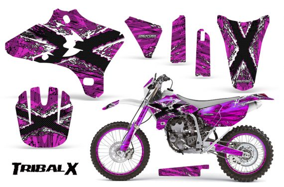 Yamaha YZ250 YZ450 03 05 WR250 WR450 05 06 CreatorX Graphics Kit TribalX White Pink NP Rims 570x376 - Yamaha YZ250F/YZ450F 4 Stroke 2003-2005 Graphics
