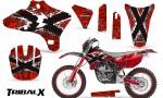 Yamaha YZ250 YZ450 03 05 WR250 WR450 05 06 CreatorX Graphics Kit TribalX White Red NP Rims 150x90 - Yamaha YZ250F/YZ450F 4 Stroke 2003-2005 Graphics