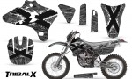 Yamaha YZ250 YZ450 03 05 WR250 WR450 05 06 CreatorX Graphics Kit TribalX White Silver NP Rims 150x90 - Yamaha YZ250F/YZ450F 4 Stroke 2003-2005 Graphics