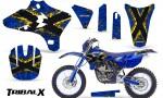 Yamaha YZ250 YZ450 03 05 WR250 WR450 05 06 CreatorX Graphics Kit TribalX Yellow Blue NP Rims 150x90 - Yamaha YZ250F/YZ450F 4 Stroke 2003-2005 Graphics