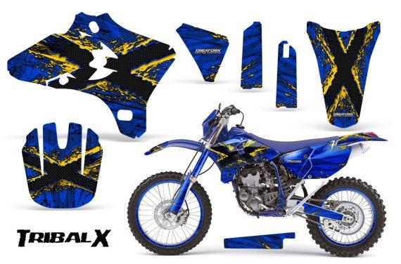 Yamaha YZ250 YZ450 03 05 WR250 WR450 05 06 CreatorX Graphics Kit TribalX Yellow Blue NP Rims 570x376 - Yamaha YZ250F/YZ450F 4 Stroke 2003-2005 Graphics
