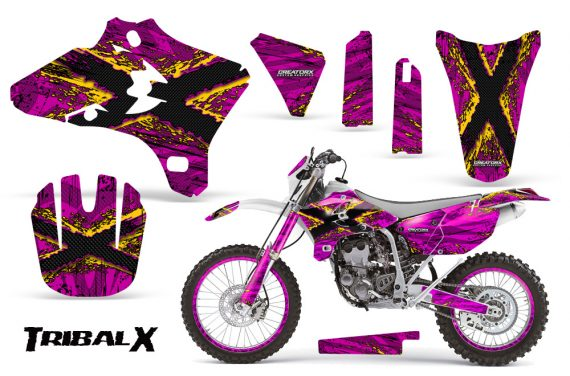 Yamaha YZ250 YZ450 03 05 WR250 WR450 05 06 CreatorX Graphics Kit TribalX Yellow Pink NP Rims 570x376 - Yamaha YZ250F/YZ450F 4 Stroke 2003-2005 Graphics