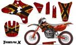 Yamaha YZ250 YZ450 03 05 WR250 WR450 05 06 CreatorX Graphics Kit TribalX Yellow Red NP Rims 150x90 - Yamaha YZ250F/YZ450F 4 Stroke 2003-2005 Graphics