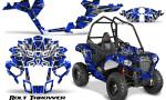 Polaris Sportsman ACE CreatorX Graphics Kit Bolt Thrower Blue 150x90 - Polaris Sportsman ACE 325 570 2014-2016 Graphics