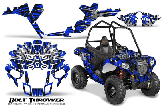 Polaris-Sportsman-ACE-CreatorX-Graphics-Kit-Bolt-Thrower-Blue