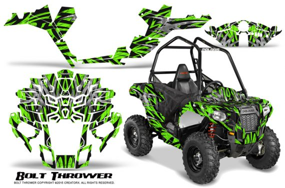 Polaris-Sportsman-ACE-CreatorX-Graphics-Kit-Bolt-Thrower-Green