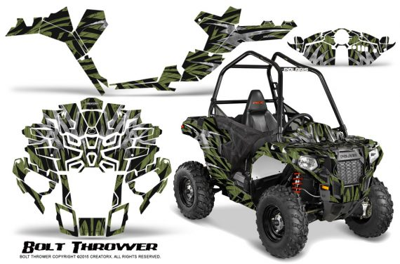 Polaris-Sportsman-ACE-CreatorX-Graphics-Kit-Bolt-Thrower-GreenArmy
