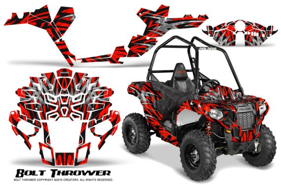 Polaris-Sportsman-ACE-CreatorX-Graphics-Kit-Bolt-Thrower-Red