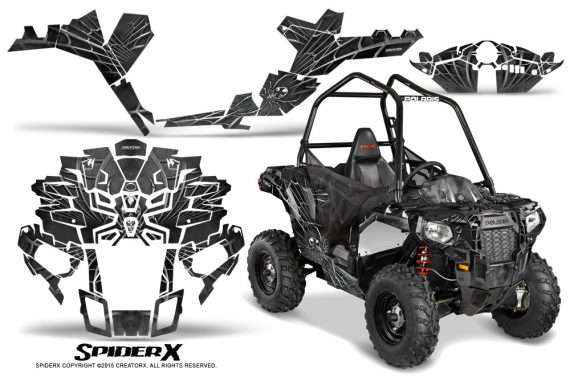 Polaris-Sportsman-ACE-CreatorX-Graphics-Kit-SpiderX-Silver