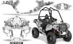 Polaris Sportsman ACE CreatorX Graphics Kit SpiderX White 150x90 - Polaris Sportsman ACE 325 570 2014-2016 Graphics