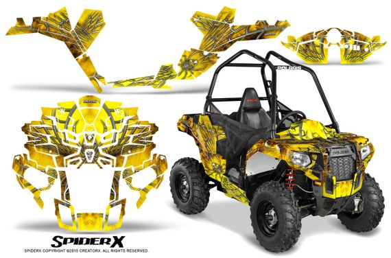 Polaris-Sportsman-ACE-CreatorX-Graphics-Kit-SpiderX-Yellow