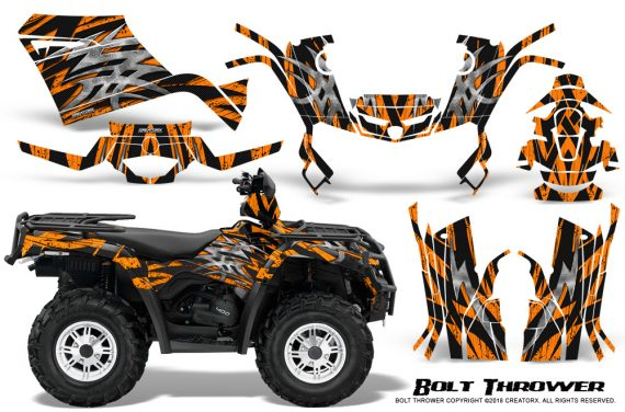 Can-Am-Outlander-400-09-15-Graphic-Kit-Bolt-Thrower-Orange
