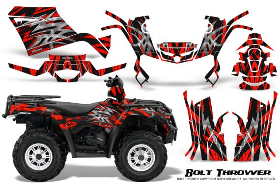 Can-Am-Outlander-400-09-15-Graphic-Kit-Bolt-Thrower-Red