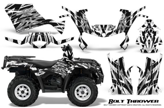 Can-Am-Outlander-400-09-15-Graphic-Kit-Bolt-Thrower-White