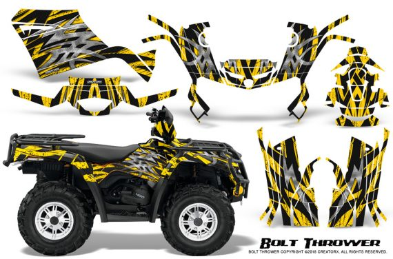 Can-Am-Outlander-400-09-15-Graphic-Kit-Bolt-Thrower-Yellow