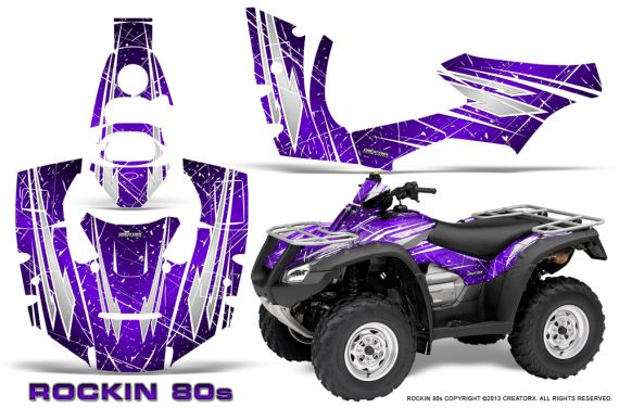 Honda Rincon 06 14 CreatorX Graphics Kit Rockin80s Purple 570x376 - Honda Rincon 2006-2018 Graphics