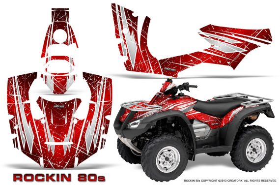 Honda Rincon 06 14 CreatorX Graphics Kit Rockin80s Red 570x376 - Honda Rincon 2006-2018 Graphics