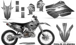 Husaberg 13 14 Husqvarna 14 15 TC FC Graphics Kit Cold Fusion Silver NP Rims 150x90 - Husqvarna TC 125-250 FC 250-350-450 2014-2016 Graphics