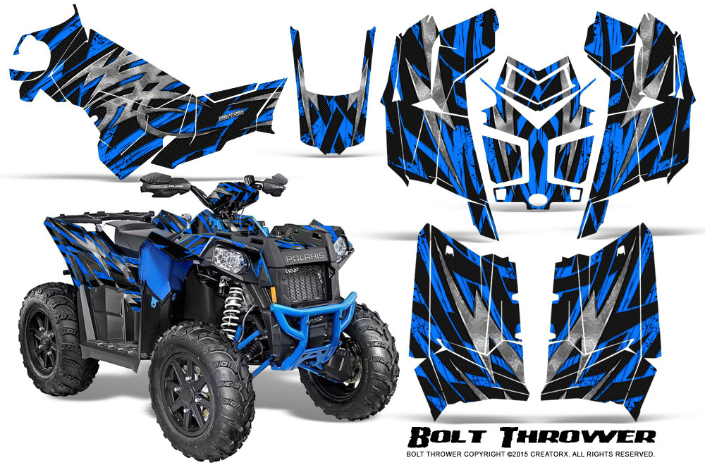 Polaris-Scrambler-850-XP-2013-2014-CreatorX-Graphics-Kit-Bolt-Thrower-BlueScrambler