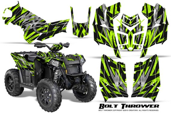 Polaris Scrambler 850 XP 2013 2014 CreatorX Graphics Kit Bolt Thrower GreenLime 570x376 - Polaris Scrambler 850 1000 2013-2016 Graphics