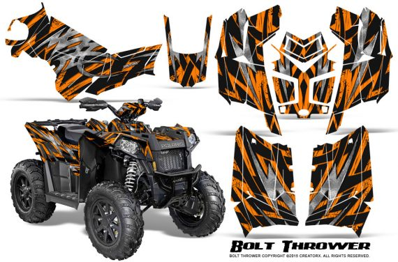 Polaris Scrambler 850 XP 2013 2014 CreatorX Graphics Kit Bolt Thrower Orange 570x376 - Polaris Scrambler 850 1000 2013-2016 Graphics