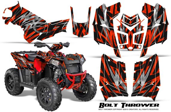 Polaris Scrambler 850 XP 2013 2014 CreatorX Graphics Kit Bolt Thrower Red 570x376 - Polaris Scrambler 850 1000 2013-2016 Graphics
