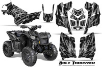 Polaris-Scrambler-850-XP-2013-2014-CreatorX-Graphics-Kit-Bolt-Thrower-Silver