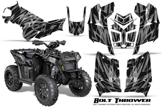 Polaris Scrambler 850 XP 2013 2014 CreatorX Graphics Kit Bolt Thrower Silver 570x376 - Polaris Scrambler 850 1000 2013-2016 Graphics