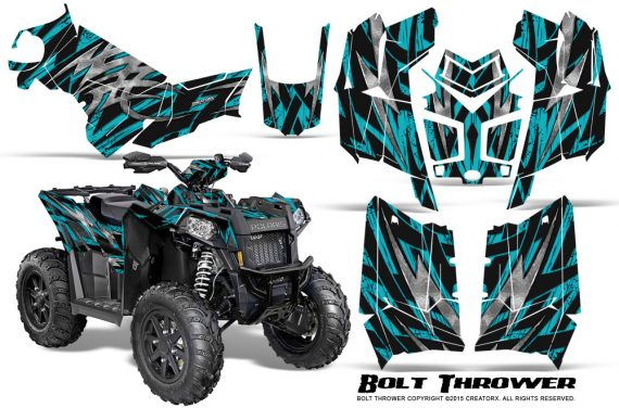 Polaris Scrambler 850 XP 2013 2014 CreatorX Graphics Kit Bolt Thrower Teal 570x376 - Polaris Scrambler 850 1000 2013-2016 Graphics